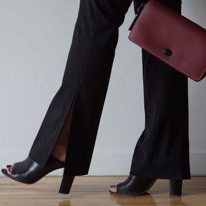 Pants - Black Split Hem Trousers